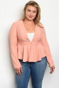 Plus Size Women's Peach Blazer Size 1X