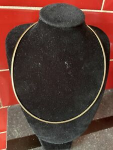 Stunning Italian Designer Hallmarked 9ct Gold 18inch Mesh Choker Style Chain