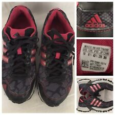Adidas Women's Sz 10 Pink Black Lace Up Running Shoe With Mud Release Soles