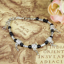 HOT Free shipping New Tibet silver multicolor jade turquoise bead bracelet S57
