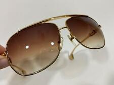 Rare CHROME HEARTS Gold Metal Designer Rectangular Sunglasses SS-DK