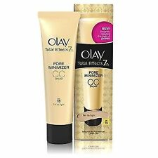 2 X Olay Total Effects 7 in 1 Pore Minimiser CC Cream 50ml Fair to Light Spf15