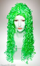 Wig Long Neon Green Spring Curl Synthetic Hair Costume Wig