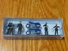 Preiser HO #10175 Police ( 5 people, 2 motorcyles)