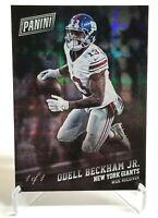 2017 Panini Black Friday Odell Beckham Jr True 1/1 Card Hyperplaid Browns Giants