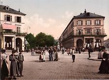 France, Mülhausen. Neuquartierplatz. (FRANCE) vintage print photochromie, vint