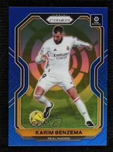 2020-21 Panini Chronicles Prizm La Liga Blue 13/49 Karim Benzema #1