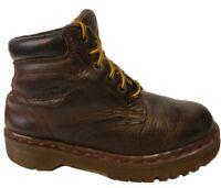 Dr. Martens Doc 6 Eye Boots US 5 Brown 8284 Made in England VTG Unisex