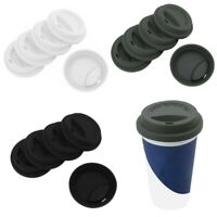 5x_Reusable Silicone Anti-Dust Lids Covers for Ceramic Coffee Cup Travel Mug New