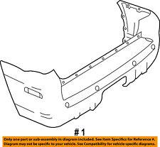 Mercury FORD OEM 02-05 Mountaineer Rear Bumper-Cover 1L2Z17K835XB
