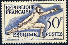 FRANCE - 1953 - Yv.962 / Mi.980 30fr Escrime / Fencing - Neuf*