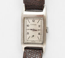 Cyma vintage original 1935/40 chrome rectangular watch (rare 335 caliber)