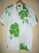 mens QUIKSILVER COTTON SHORT SLEEVE SHIRT SIZE LARGE