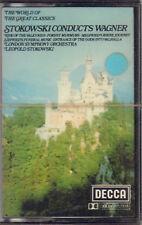 "LEOPOLD STOKOWSKI "" CONDUCTS WAGNER "" MUSICASSETTA SIGILLATA DECCA"