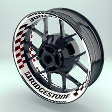 "Felgenaufkleber Felgenrandaufkleber Premium Wheelsticker ""Bridgestone V2"""