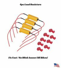 4x Universal Motorcycle Fast / No Blinks Turn Signal Indicator Mod Fix