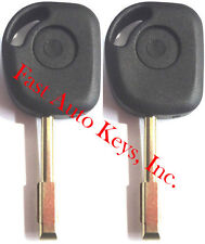 2 NEW REPLACEMENT TRANSPONDER CHIPPED UNCUT BLADE IGNITION KEY BLANK- FIT JAGUAR