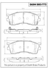 Disc Brake Pad Set-DX, Rear Drum Front Dash 4 Brake fits 01-03 Mazda Protege