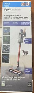 Dyson - Outsize Total Clean cordless vacuum - Nickel/Red- Free shipping!