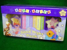 Disney Winnie the Pooh six Board books and Book Ends Full Color Store New