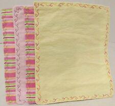 Muslin & Flannel Face/Bath Cloth Baby Wash Cloths Set of 4 Stripes & Solids