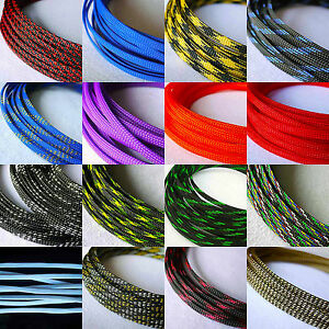 6mm Tight braided PET Expandable Sleeving 8Meter 26Feet
