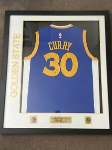 Stephen Curry Framed Signed Golden State Warriors Jersey w COA