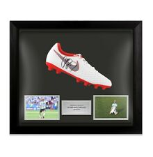 More details for framed javier mascherano signed football boot nike red and white - argentina