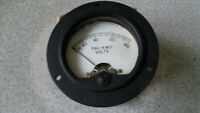 VINTAGE  MILITARY / AIRCRAFT GAUGE  - SIMPSON ELECTRIC-  TRU R.M.S VOLTMETER