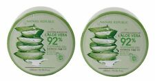 Nature Republic Soothing Moisture Aloe Vera 92% Gel Natural Skin Care Pack of 2