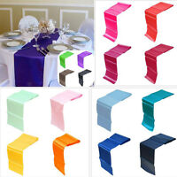 "12""x108"" Satin Table Runner Wedding Party Banquet Venue Decorations 13Colors LJ"