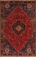 Tribal Vintage Abadeh Oriental Area Rug Home Decor Hand-Knotted Nomad Carpet 6x9