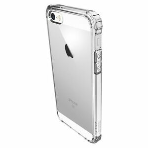 IPhone SE Case Spigen Crystal Shell Extra Shock-Absorb Crystal Clear TPU Bumper