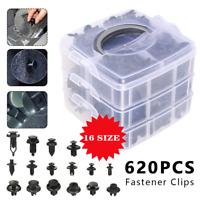 620PC Car Body Trim Clips Retainer Bumper Auto Plastic Rivet Screw Fastener Kit
