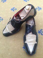Oliver Sweeney Men's Shoes Two Tone Black Cream Lace Up UK 9.5 US 10.5 EU 43.5