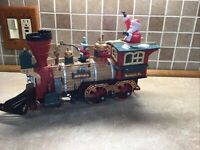 ENGINE ONLY New Bright Holiday Express Animated Train 384 WORKING