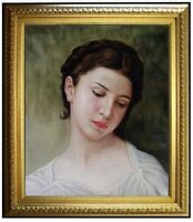 Framed Hand Painted Oil Painting Repro Bouguereau, Young Girl 1898, 20x24in