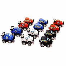 12 Pack Dazzling Toys Pull Back & Let Go Race Cars Red, White, Blue and Black