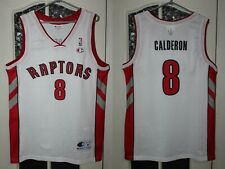 Toronto Raptors Calderon White Champion Vintage Basketball shirt jersey size M