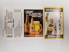 Baltimore Skipjacks 1986/87 AHL Minor Hockey Pocket Schedule - Miller (RK)