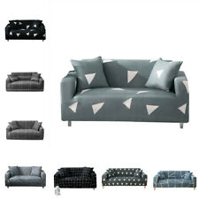 Geometric Lines Pattern 1-4 Seater Stretch Sofa Covers Couch Slipcover Elastic