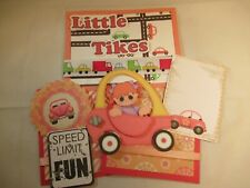 LITTLE TIKES  3D PAPER PIECING  SCRAPBOOK PAGE MAT SET