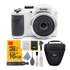 Kodak PIXPRO AZ252 Astro Zoom 16MP Digital Camera (White) w/ 16GB SD Card Bundl