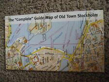 """The """"Complete"""" Guide / Map of Old Town Stockholm, 1998"""