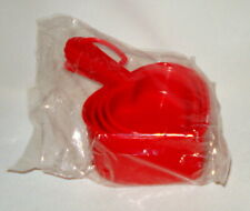 Vtg New Red Heart Shaped Measuring Cups Sealed Pkg Promise Margarine Advertising