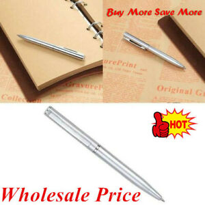 1pcs Students Stainless Steel Ball-point Pen Short Spin 2021 Office Supply GIFTS