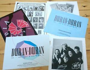 Duran Duran Fan Club Memorabilia, Christmas Card – signed original, 1985, RARE