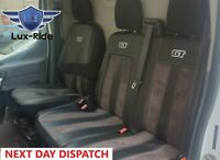 FORD TRANSIT CUSTOM 2014-2021 ARTIFICIAL LEATHER & ALICANTE TAILORED SEAT COVERS