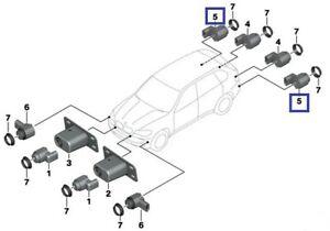 BMW X3+X5+X6 REAR PDC PARKING SENSOR TITANIUM SILVER GENUINE NEW 66209142220