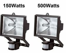 150/500W HALOGEN LIGHT WITH PIR SENSOR OUTDOOR GARDEN FLOODLIGHT SECURITY